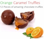 Orange Caramel Truffles - 12 Chocolates