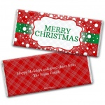 Merry Christmas Custom Wrapping Chocolate Bars