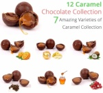 Caramel Chocolate Truffle Collection - 12 Chocolates