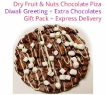 Dry fruit & nuts chocolate Pizza - Diwali Special
