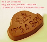 It's a Boy - Newborn Baby Boy announcement chocolates