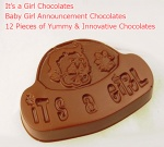 It's a Girl - Newborn baby announcement chocolates