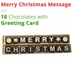 Merry Christmas Greeting on 18 Chocolates