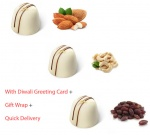 Center filled white chocolates with dry fruits - Diwali Special