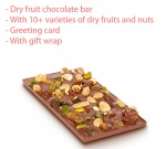 Dryfruit and nuts chocolate bar gift for father's day