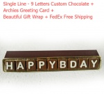 Single line customized chocolate