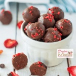 Strawberry Dark Chocolate Truffles