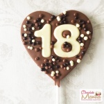 Numbers on Chocolate Heart Lollipop - Birthday Special