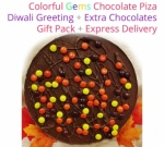 Gems Chocolate Pizza - Diwali Special
