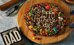 Custom message on Chocolate Pizza - Father's day spl