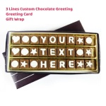 Custom Chocolate Greeting - 3 Lines