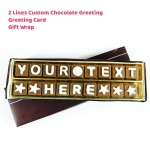 Custom Chocolate Greeting - 2 Lines