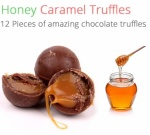 Honey Caramel Truffles - 12 Chocolates