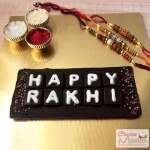 Happy Rakhi Letters on Chocolate Bar