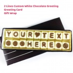 Custom White Chocolate Greeting - 2 Lines