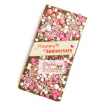 Happy Anniversary Chocolate Bar - Sprinkles