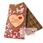 Happy Anniversary Chocolate bar - with Hearts