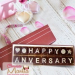 Happy Anniversary Message Chocolate