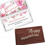 Happy Anniversary Custom Wrapper Chocolate Bars