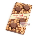 Happy Anniversary Caramel Chocolate Bar