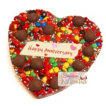Happy Anniversary Heart Chocolate