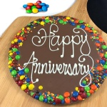 Happy Anniversary Chocolate Pizza