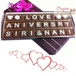 Wedding Anniversary Message Chocolate