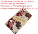Valentine's Chocolate Bar with Hearts & Berries with Love Card