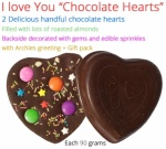 "I love you "" Chocolate hearts "" - Valentines Spl with Love Card"
