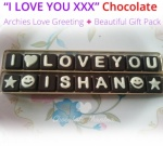 "I love You ""Name"" Chocolate - Valentines Spl with Love Card"