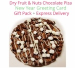 Dry Fruit & Nuts Chocolate Pizza New Year Spl