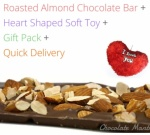 Almond Chocolate Bar with Soft Toy - Valentine Spl