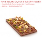Dryfruit and nuts chocolate bar gift - Friendship day Spl