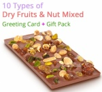 Dry Fruit & Nut Mixed Chocolate Bar - Christmas Spl with Greeting and more