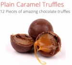 Natural Caramel Truffles - 12 chocolates