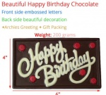"Happy Birthday Chocolate Bar 6"" x 4"""