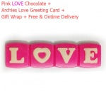 Pink Love Chocolate with Archies Love Card