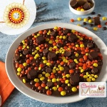 Truffles Gems Chocolate Pizza with Rakhi