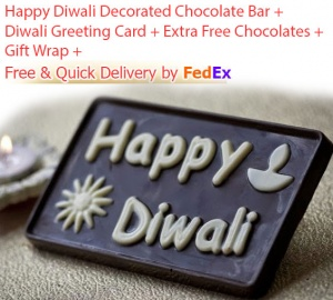 Happy Diwali Emboss Print Chocolate
