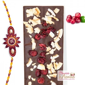 Rakhi with Cranberries Coconut Chocolate Bar