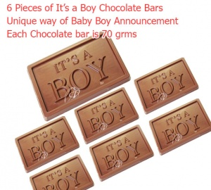 It's a Boy - Newborn boy announcement chocolate bars
