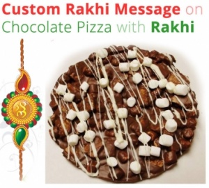 Rakhi with Dry fruit Chocolate Pizza