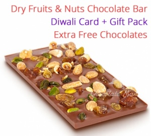 Dry Fruits & Nuts Chocolate bar - Diwali Special
