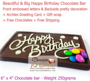 Happy Birthday Chocolate Bar