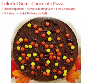 Gems Chocolate Pizza - Friendship Day Spl