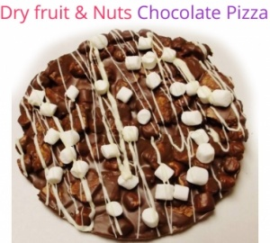 Dry fruits & Nuts Chocolate Pizza