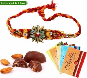 Rakhi with Praline Chocolates