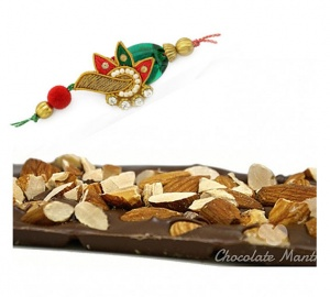 Rakhi with Almond Chocolate Bar