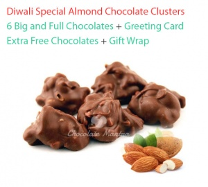 Almond Chocolate Clusters - Valentine Special with Greeting card