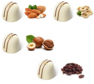 White Chocolates with Dry Fruit & Nuts